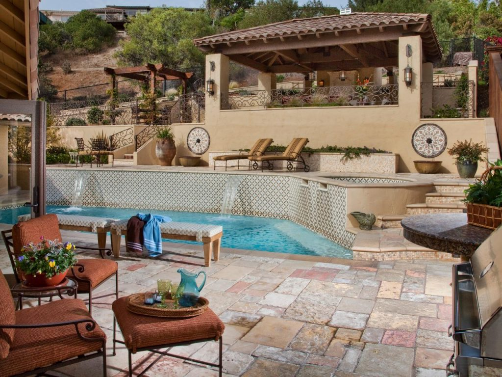Investing in a luxury patio, deck area for your backyard is a great remodeling idea and very popular in Houston. - Houston Paving, Houston Backyard Remodeling