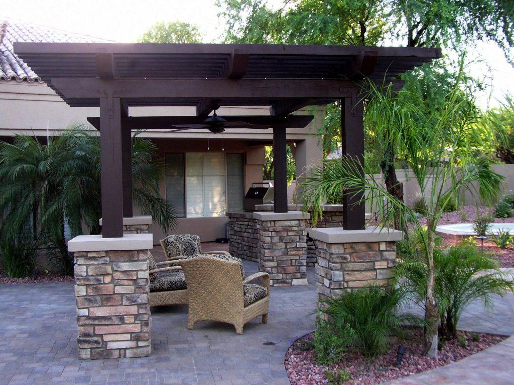 One popular backyard remodeling idea - adding a Pergola - Houston Pergola Installation - Backyard Remodeling