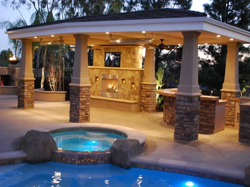 Pavillion - Pool Area - Houston Backyard Remodeling - Pavillion Installation in Houston